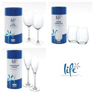 Life Spa plastic drinks glasses