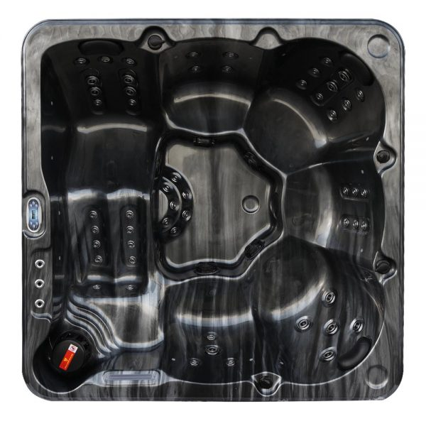 The Aire 6 person black hot tub